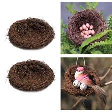 2x Nid d'oiseau Cage Sauvages Oiseaux pour Petit Animal Domestique Artisanat