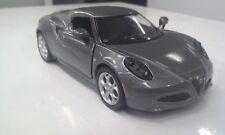 ALFA ROMEO 4C argent foncé gris KINSMART jouet miniature 1/32 ECHELLE voiture
