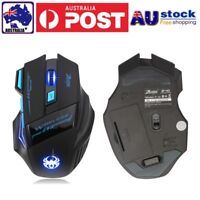 Optical  Adjustable 2400DPI Wireless USB Pro Gaming Game Mouse For Laptop PC UK