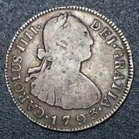 1819 NG Guatemala 2 Reales Nueva Guatemala Mint Silver Milled Bust Charles IV