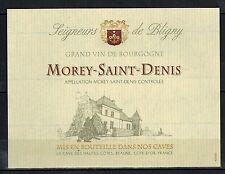 Etiquette Vin de Bourgogne - Morey-Saint-Denis -Seigneurs de Bligny-Réf.n°79