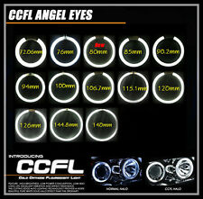 2x CCFL Angel Eyes Halo Rings 1x CCFL Inverter For Car Motorcycle Xenon White
