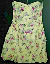OASIS YELLOW FLORAL DRESS UK 16 * BRAND NEW WITH TAGS * RRP £50