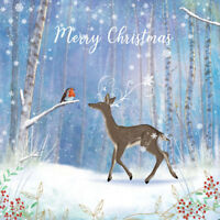 Charity Christmas Cards Pack Deer & Robin - 5 Pack