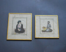 19th ANTIQUE QAJAR MINIATURE PAINTING PERSIAN IMAN ALI AND SHEH