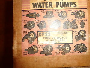 NOS Quality Water Pump Ford V8 1932-1936 Left or Right Side   CP22   68-8502-D