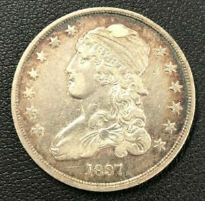 1837 Capped Bust Silver Quarter