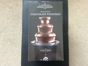 Gourmet Gadgetry Metallic Black Chocolate Fountain