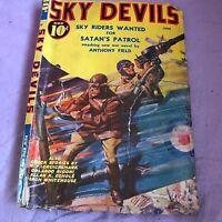 SKY DEVILS 06/1939-RED CIRCLE-TIMELY-PULP-SCOTT-SCHOMBURG-WWI-AIR WAR-vg+