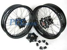 "SUZUKI DR650 DR 650 FRONT/REAR 17""/17"" SUPERMOTO WHEELS SET 1998-2015 I RMS06"