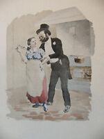 Simili Aquarelle L'oeuvre de Zola 1898 par H Lebourgeois