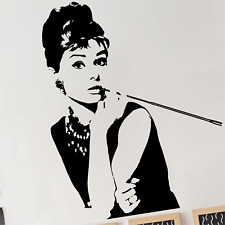 AUDREY HEPBURN Wall Decal Stickers Home room Decor Art Removable (L)