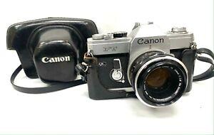 CANON FT QL + CANON FD 50mm 1:1.8 dans sa housse
