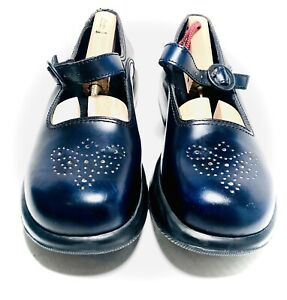 DANSKO Sky Blue Leather Mary Jane Vintage Clog Shoes SZ 9.5