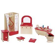 Puppenhaus Braun Medizin Schrank mit Spiegel Tür Badezimmer Miniatur-Möbel Puppenstuben & -häuser