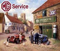 MG Midget T Series MG Road Car 1936-1955 MG  Large Metal Steel Wall Sign