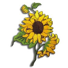 SUN FLOWER Golden Yellow Cute Embroidered Iron Sew on Pretty Patch New Applique