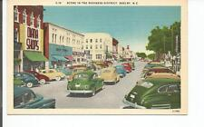 SCENE IN THE BUSINESS DISTRICT, SHELBY, N.C. POSTCARD