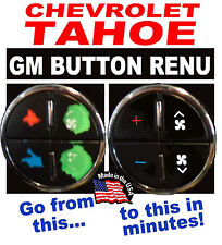2007-2008 Chevrolet Tahoe AC Button Repair Decals Dual Climate