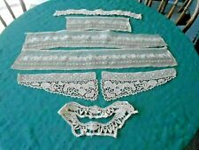 ANTIQUE  LACE TRIMS, WONDERFUL FOR EARLY GARMENTS GREAT PATINA,  CIRCA1900