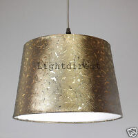 """DARK GOLD FOILE EFFECT 10"""" EMPIRE DRUM  LAMP SHADE FOR TABLE LAMP OR CEILING"""
