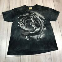 Vintage The Mountain Dragon T Shirt Black 2XL