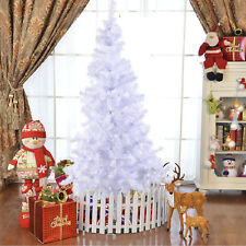 6ft 1.8m Artificial Christmas Tree White with Metal Stand Xmas Decorations Tips
