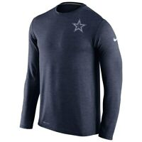 New Nike Dallas Cowboys NFL Football Dri-Fit Touch Long Sleeve t-shirt men's 2XL