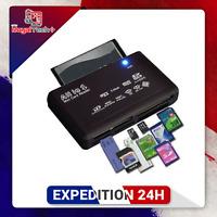 Lecteur de cartes USB 2.0 Tout en un Adaptateur TF CF SD Mini SD SDHC MMC MS XD