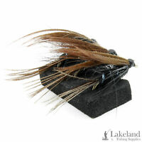 3x, 6x or 12x Black Dabbler Wet Trout Flies for Fly Fishing