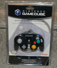 Official Nintendo GameCube Controller Jet Black - NEW w/ distressed package