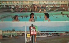 Route 66 Surf Motel roadside Santa Rosa New Mexico Swimming Pool Postcard 12772
