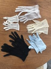 Vintage Lot of Ladies Gloves Lace Fine Summer
