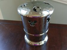 Disney Mickey Mouse Silver Metal Hammer Finish Toothbrush Holder Bathroom Decor