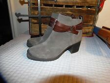Sam Edelman BOOTS 9 Gray Suede Ankle Boots 9 HIGH HEEL BOOTS 9 WEDGE BOOTS 9