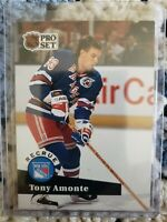 1992-93 Pro Set French ROOKIE RC Tony Amonte New York Rangers Card #550