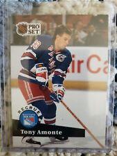 1992-93 Pro Set French ROOKIE RC Tony Amonte New York Rangers Card #550