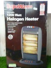 Supawarm 1200 Watt 3 Heat Settings Oscillating Halogen Heater 1200w