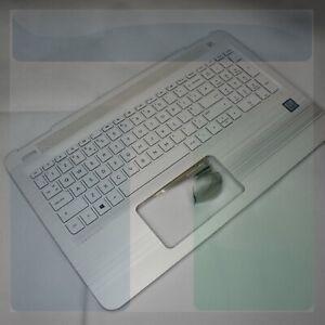 UK Keyboard & Blizzard White Palmrest Assembly - HP PAVILION