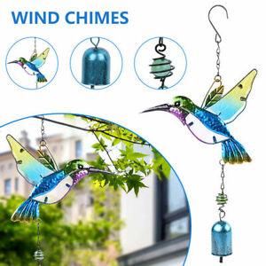 Wind Chimes Copper Bells Garden Outdoor Ornament Bird Hummingbird Hanging Decor