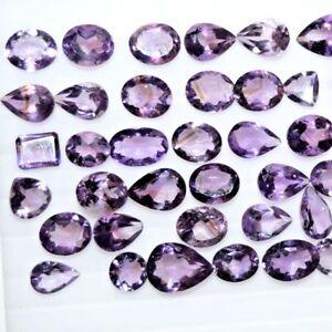100.0 Ct Natural Mix Size & Shape Amethyst Cut Loose Gemstone Wholesale Lot
