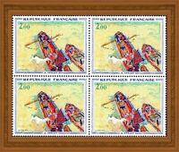 France 1972 ART tableau de Dérain «les péniches», bloc de 4 timbres, YT 1733 **