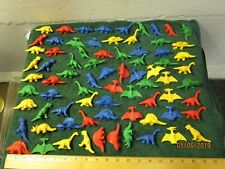 Large Lot of Small Rubber Dinosaurs Tyrannosaurus Brontosaurus Toys Kids
