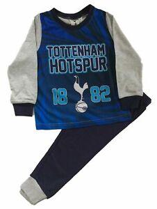 Tottenham Hotspur Boys Football Pyjamas Spurs Kids PJs Nightwear 7-12 Years Blue