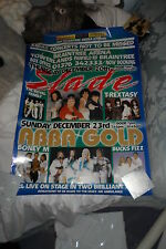 SLADE T.REXASTY BRAINTREE ARENA BOX OFFICE POSTER DEC 20TH 200? EXCELLENT COND