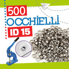 500 OCCHIELLI ID 15 MM PER OCCHIELLATRICE fora banner striscioni pvc 50135