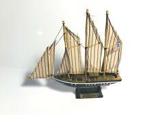 "Wooden Atlantic model Sailboat decoration.  Ship Model Fully Assembled.  7"" long"