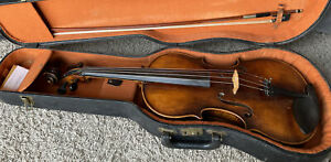 Beautiful Old German Viola w/ Steiner Bow & Lifton Case New Stings And Bow Hair