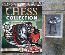 Marvel Chess Collection #9 Venom Black Pawn Resin Figure & Magazine