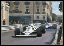Painting 1980 Grand Prix of Monaco by Toon Nagtegaal